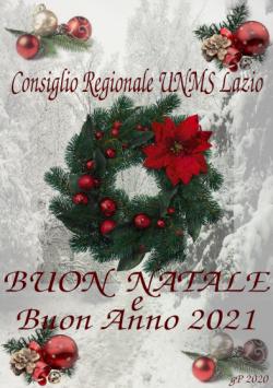 Consiglio regionale UNMS Lazio - Festività natalizie 2020 - Capodanno 2021